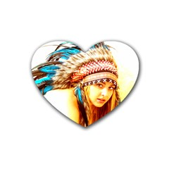 Indian 12 Rubber Coaster (heart)  by indianwarrior