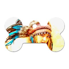 Indian 12 Dog Tag Bone (two Sides) by indianwarrior
