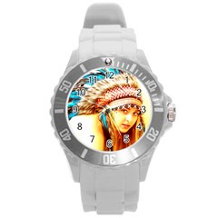 Indian 12 Round Plastic Sport Watch (l) by indianwarrior