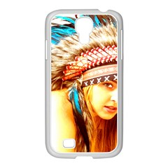 Indian 12 Samsung Galaxy S4 I9500/ I9505 Case (white) by indianwarrior
