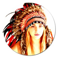 Indian 3 Magnet 5  (Round) by indianwarrior