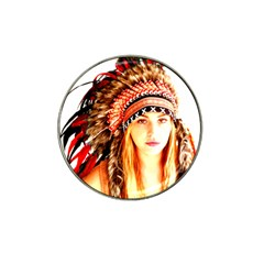 Indian 3 Hat Clip Ball Marker by indianwarrior