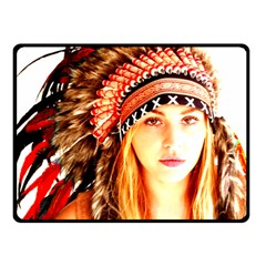Indian 3 Fleece Blanket (small) by indianwarrior