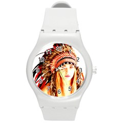 Indian 3 Round Plastic Sport Watch (m) by indianwarrior