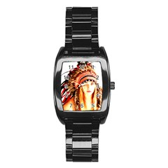 Indian 3 Stainless Steel Barrel Watch by indianwarrior