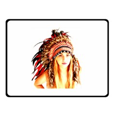 Indian 3 Double Sided Fleece Blanket (small)  by indianwarrior