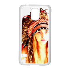 Indian 3 Samsung Galaxy S5 Case (white) by indianwarrior