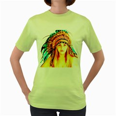 Indian 29 Women s Green T Shirt by indianwarrior