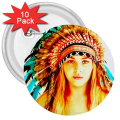 Indian 29 3  Buttons (10 Pack)  by indianwarrior