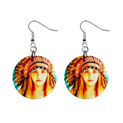 Indian 29 Mini Button Earrings by indianwarrior