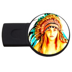 Indian 29 Usb Flash Drive Round (2 Gb)  by indianwarrior