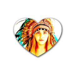 Indian 29 Rubber Coaster (heart)  by indianwarrior