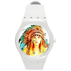 Indian 29 Round Plastic Sport Watch (m) by indianwarrior