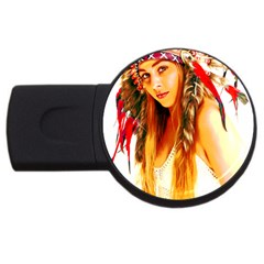 Indian 26 Usb Flash Drive Round (2 Gb)  by indianwarrior