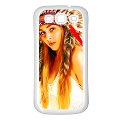 Indian 26 Samsung Galaxy S3 Back Case (white) by indianwarrior