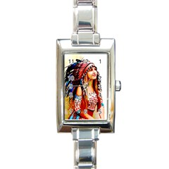 Indian 22 Rectangle Italian Charm Watch by indianwarrior