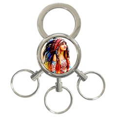 Indian 22 3 Ring Key Chains by indianwarrior