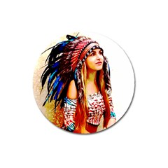 Indian 22 Magnet 3  (round) by indianwarrior