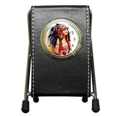 Indian 22 Pen Holder Desk Clocks by indianwarrior