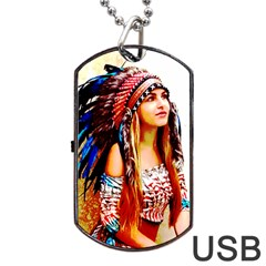 Indian 22 Dog Tag Usb Flash (two Sides)  by indianwarrior