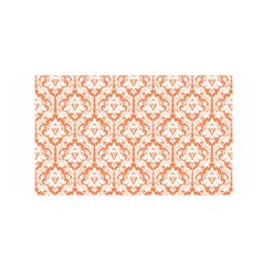 White On Orange Damask Satin Wrap by Zandiepants