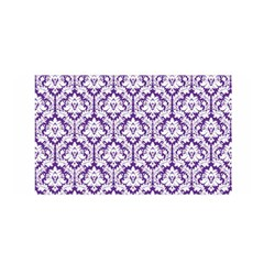 White On Purple Damask Satin Wrap by Zandiepants