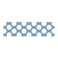 Blue Polkadot Satin Scarf (oblong) by Zandiepants