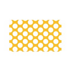 Sunny Yellow Polkadot Satin Wrap by Zandiepants