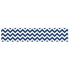 Dark Blue And White Zigzag Flano Scarf (small) by Zandiepants