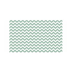 Jade Green And White Zigzag Satin Wrap by Zandiepants