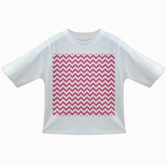 Pink And White Zigzag Infant/toddler T Shirts by Zandiepants