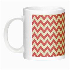 Pink And White Zigzag Night Luminous Mugs by Zandiepants