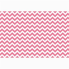 Pink And White Zigzag Collage 12  X 18  by Zandiepants