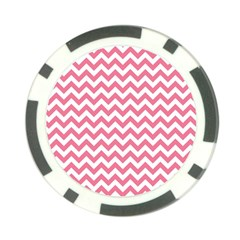 Pink And White Zigzag Poker Chip Card Guards (10 Pack)  by Zandiepants