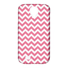 Pink And White Zigzag Samsung Galaxy S4 Classic Hardshell Case (pc+silicone) by Zandiepants