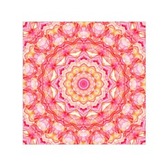 Yellow Pink Romance Small Satin Scarf (square) by Zandiepants