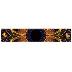 Yellow Purple Lotus Mandala Flano Scarf (large) by Zandiepants