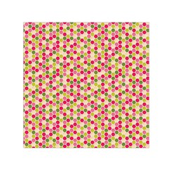 Pink Green Beehive Pattern Small Satin Scarf (square) by Zandiepants
