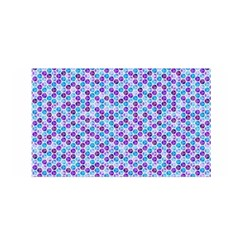 Purple Blue Cubes Satin Wrap by Zandiepants