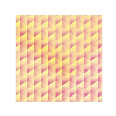 Geometric Pink & Yellow  Small Satin Scarf (square) by Zandiepants