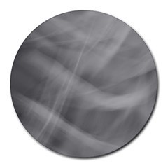 Gray Fog Round Mousepads by timelessartoncanvas