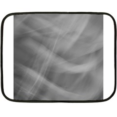 Gray Fog Fleece Blanket (mini) by timelessartoncanvas