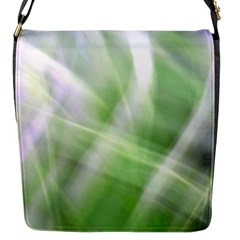 Green And Purple Fog Flap Messenger Bag (s) by timelessartoncanvas