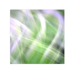 Green And Purple Fog Small Satin Scarf (square) by timelessartoncanvas