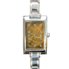 Brown Fog Rectangle Italian Charm Watch by timelessartoncanvas