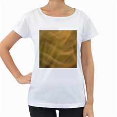 Brown Fog Women s Loose Fit T Shirt (white) by timelessartoncanvas