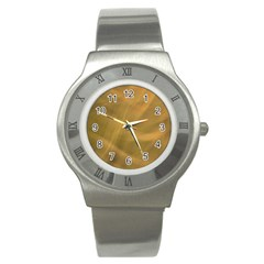 Brown Fog Stainless Steel Watch by timelessartoncanvas