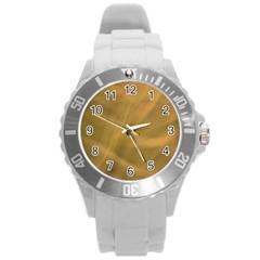 Brown Fog Round Plastic Sport Watch (L) by timelessartoncanvas