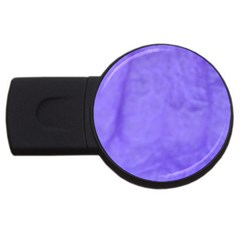 Purple Modern Leaf Usb Flash Drive Round (4 Gb)  by timelessartoncanvas