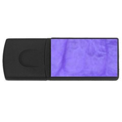 Purple Modern Leaf Usb Flash Drive Rectangular (4 Gb)  by timelessartoncanvas